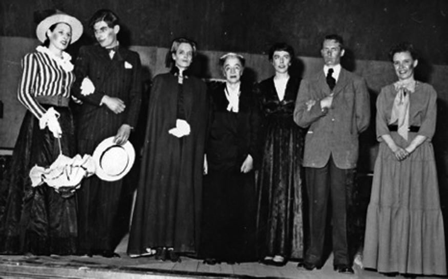 March 25, 1955 Dodie Smith, Norton Olsen, May Haramia, Miss W Wheetman, Dru Hodgson, Tom Beamas, Dorothy Spowart Theatre Pix